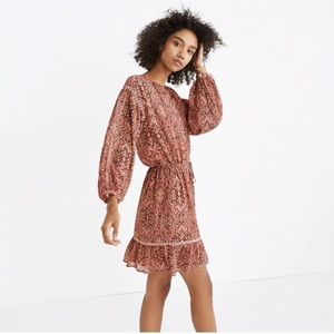 Madewell Drawstring Peasant Dress